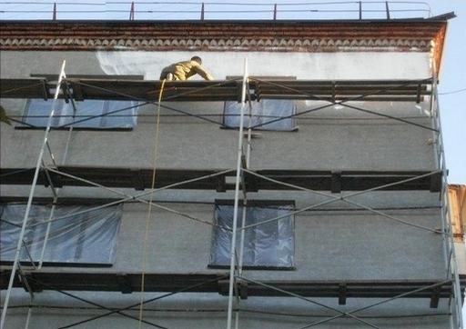 Application de Korund Façades sur immeuble