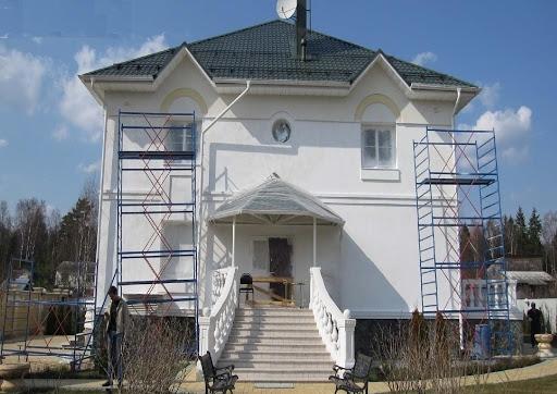 Maison traitée avec la peinture isolante Korund Façades